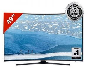 "Samsung 49"" KU6300 UHD 4K Curved Smart LED TV – Black"