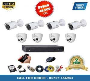 DAHUA 4 PCS BULLET,4 PSC DOME CAMERA PACKAGE