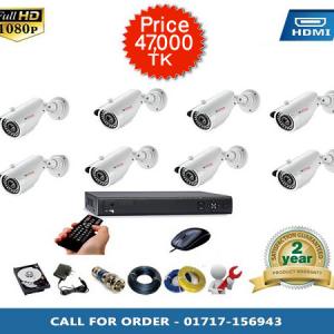 CP PLUS 8pcs Bullet Camera package